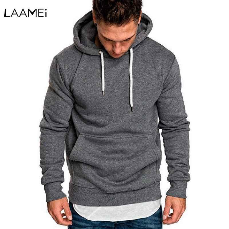 Новый мужской свитер, Осень-зима, с длинным рукавом, для бега, спортивная одежда, мужская, повседневная, однотонная, уличная, мужская, с капюшоном, пуловер, толстовки, топы