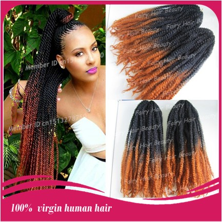 20 Stock Two Tone Color Kanekalon Marley Braid Afro Twist Hair Extension Free