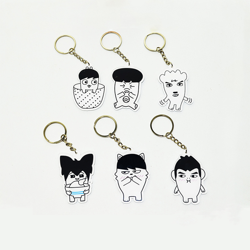 Youpop KPOP BTS Bangtan Boys ARMY Album Acrylic Key Chain Cartoon K-POP New Fashion Key Ring Pendant Keyring YSK408