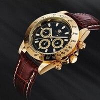 OUYAWEI Automatic Self Wind Mens Montre Homme Watch Leather Strap Waterproof Luxury Style Male Black Wristwatch Reloj Masculino