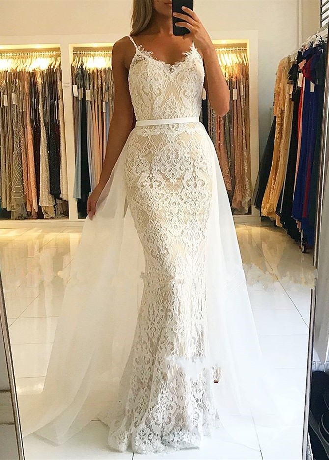 vestidos de gala Fashionable Lace Tulle Prom Dress 2019 Spaghetti Strap Mermaid Evening long Dresses For Women