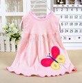 Nova moda verão 2017 baby & kids bebe bebê recém-nascido do bebê bib dos desenhos animados da criança girl dress roupas de algodão com floral venda muito