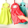 High-quality  Hand Towel Cute kids/Baby hand towel Cartoon Bathroom Considerate Hanging Design Microfiber kitchen hand towel
