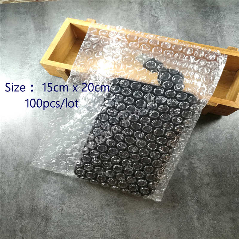 15*20cm 50Pcs Bubble Bags 10mm Protective Material De Embalaje Wrap Laser Cut Craft Transparent Bubble packing Film