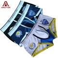 A ARCITON 3pcs/lot World Police Men Underwear Cotton Mens Underwear Boxers Men Print Boxer Shorts Size M-XL Boxer Hombre(N-377)