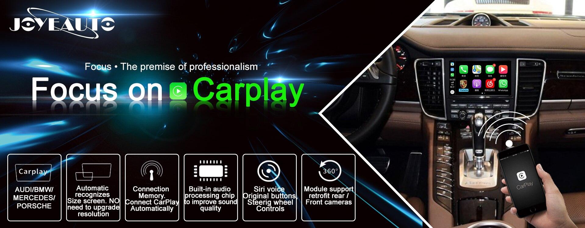 Joyeauto Wifi Wireless Carplay Android Auto Mirror Retrofit for 2010-2016  Porsche Cayenne PCM 3 1 PCM 4 0 support Reverse Camera