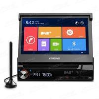 Xtrons 7 Встроенный dab + один дин стерео Win8 пользователя Интерфейс моторизованная съемная HD Сенсорный экран dvd плеер GPS навигатор
