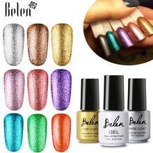Belen 7 мл Bling чистый цвет УФ-гель для ногтей Блеск Полупостоянный Платиновый лак праймер основа Топ маникюрный лак