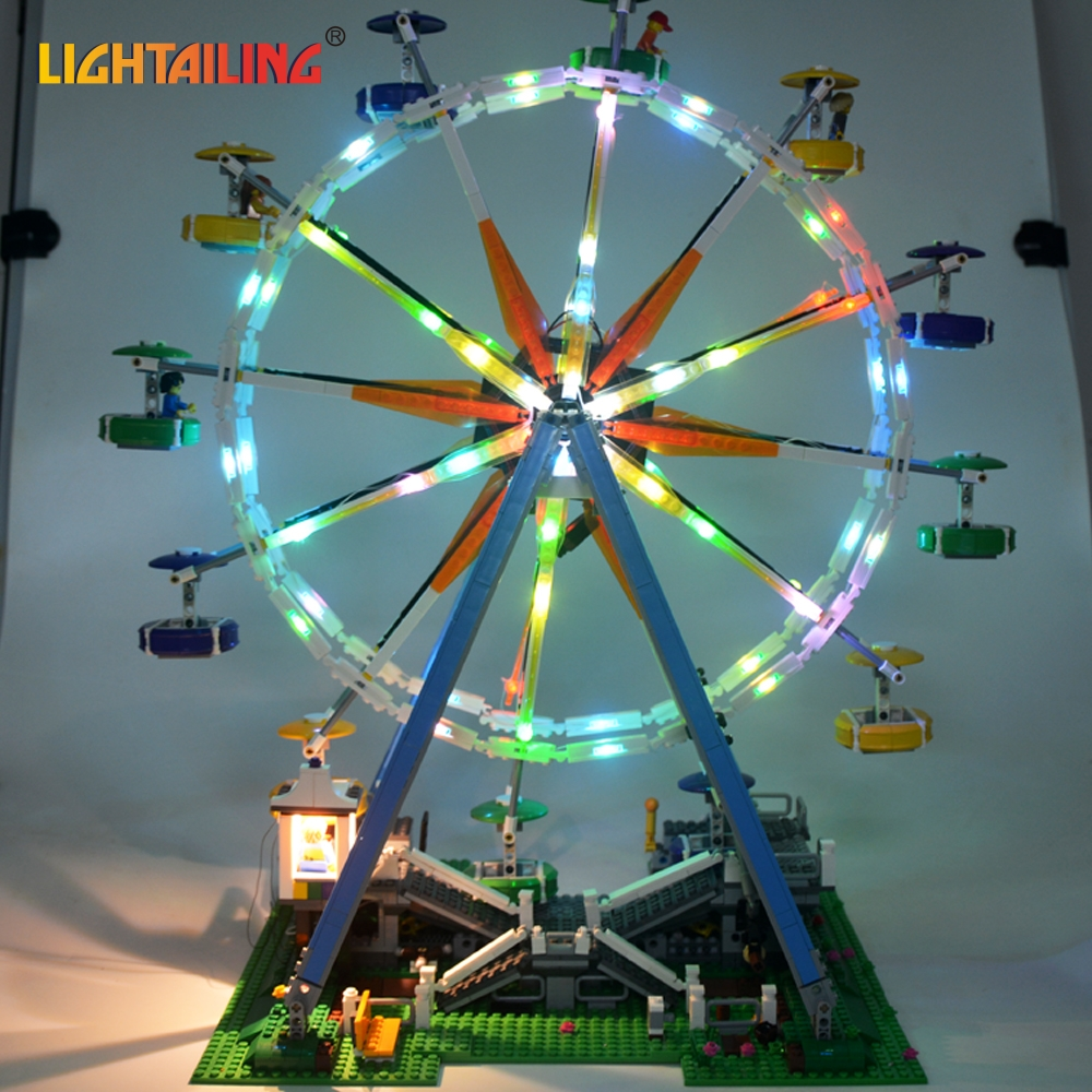 LIGHTAILING LED Light Kit For Creator Series Ferris Wheel Model Building Block Light Set Compatible With 15012 And 10247 dig it out mummy model excavation kit 5 set