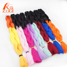 alizing hair 24Inch Ombre Two Tone Kanekalon Jumbo Braiding Hair High temperature synthetic afro Expression braid Extension
