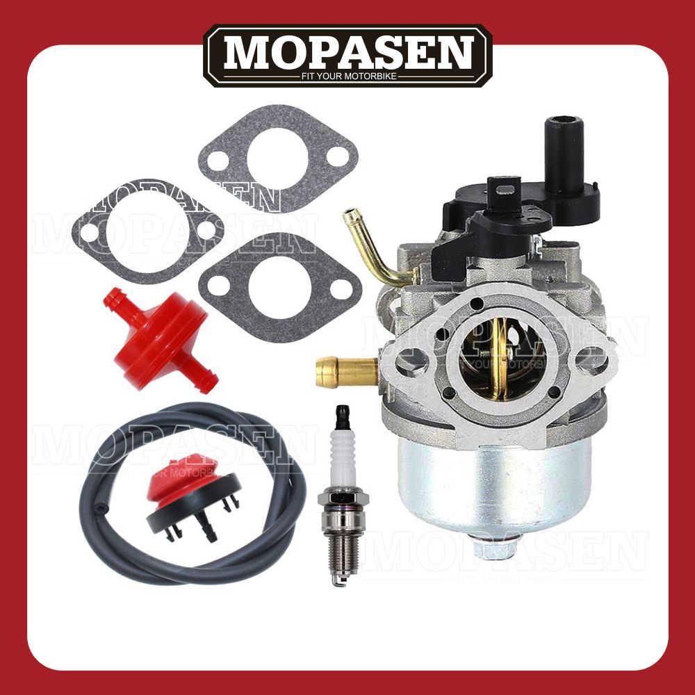 medium resolution of 801396 carburetor with primer bulb fuel filter gaskets spark plug for briggs stratton 801233 801255