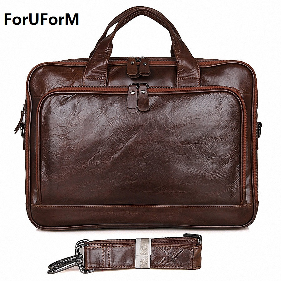 Genuine leather men messenger bags business 14 inch laptop bag men's briefcase Tote shoulder laptop men's travel handbag LI-1754 bvp free shipping new men genuine leather men bag briefcase handbag men shoulder bag 14 laptop messenger bag j5