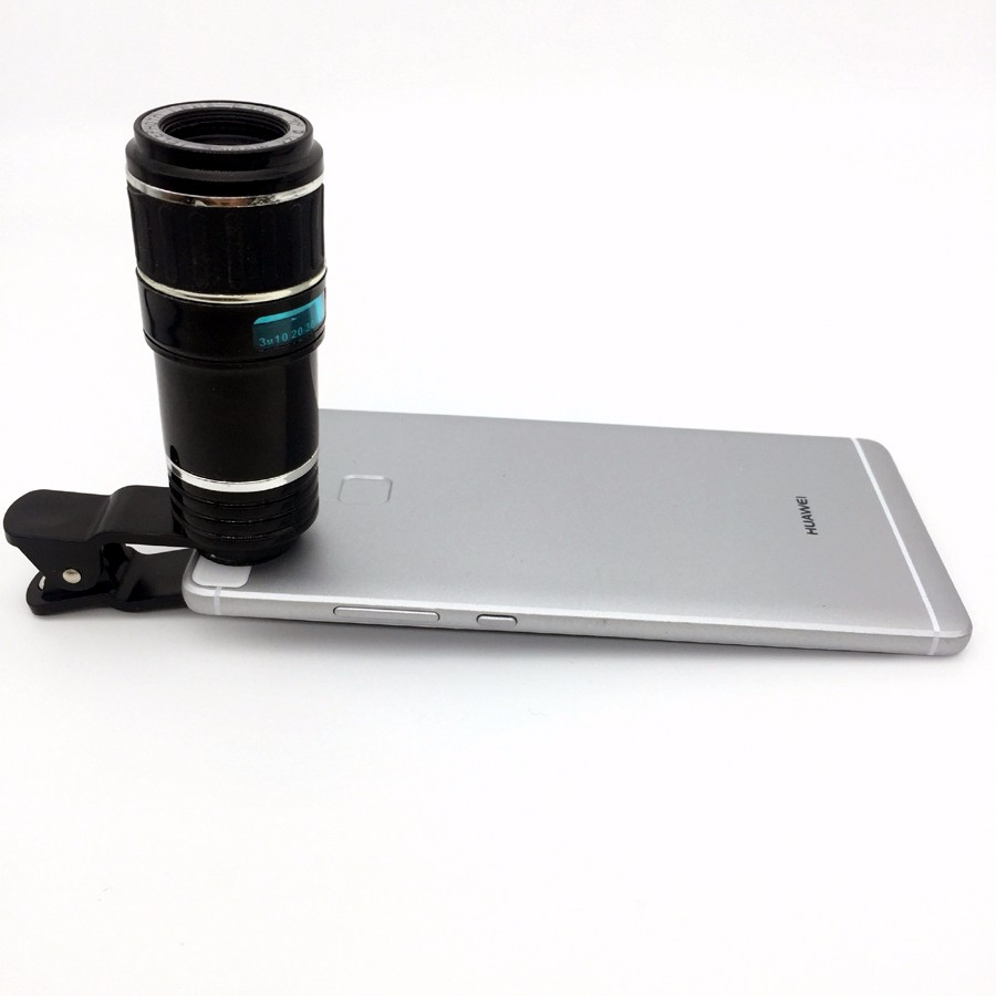 Newest Mobile Phone Camera Lens Kits Fisheye lense Wide Angle Macro Lens 12X Zoom Camera Telephoto Lens For iPhone Samsung LG 5
