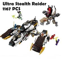 Ninjagoe Ultra Stealth Raider 1167 db Mini Tégla Ninja Kompatibilis a lego 70595 modelljével Építőelemek gyerekeknek