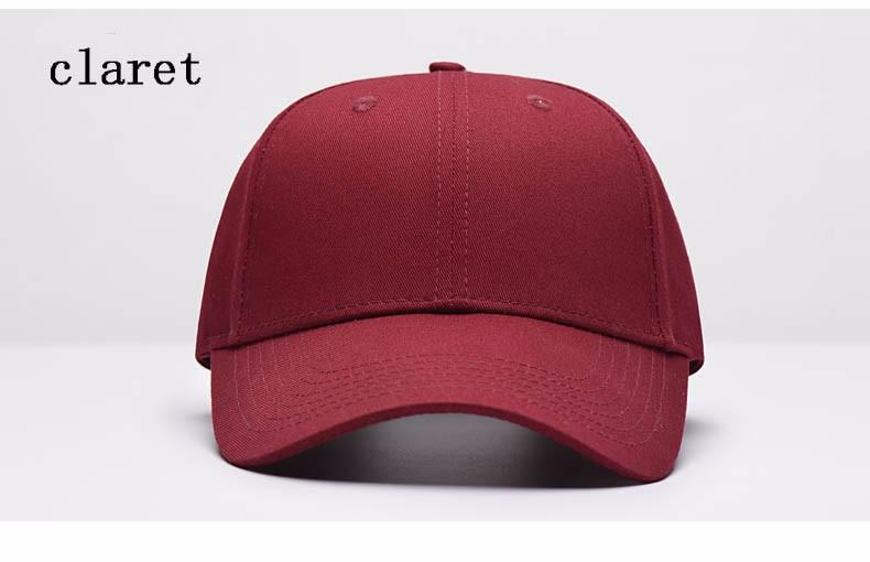 Solid Color Adjustable Baseball Cap - Claret Cap Front Angle View