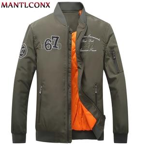 MANTLCONX Air Force Fly Pilot Jacket Military Airborne Flight Tactical Bomber Jacket Men Winter Warm Aviator Jacket Men Outwear