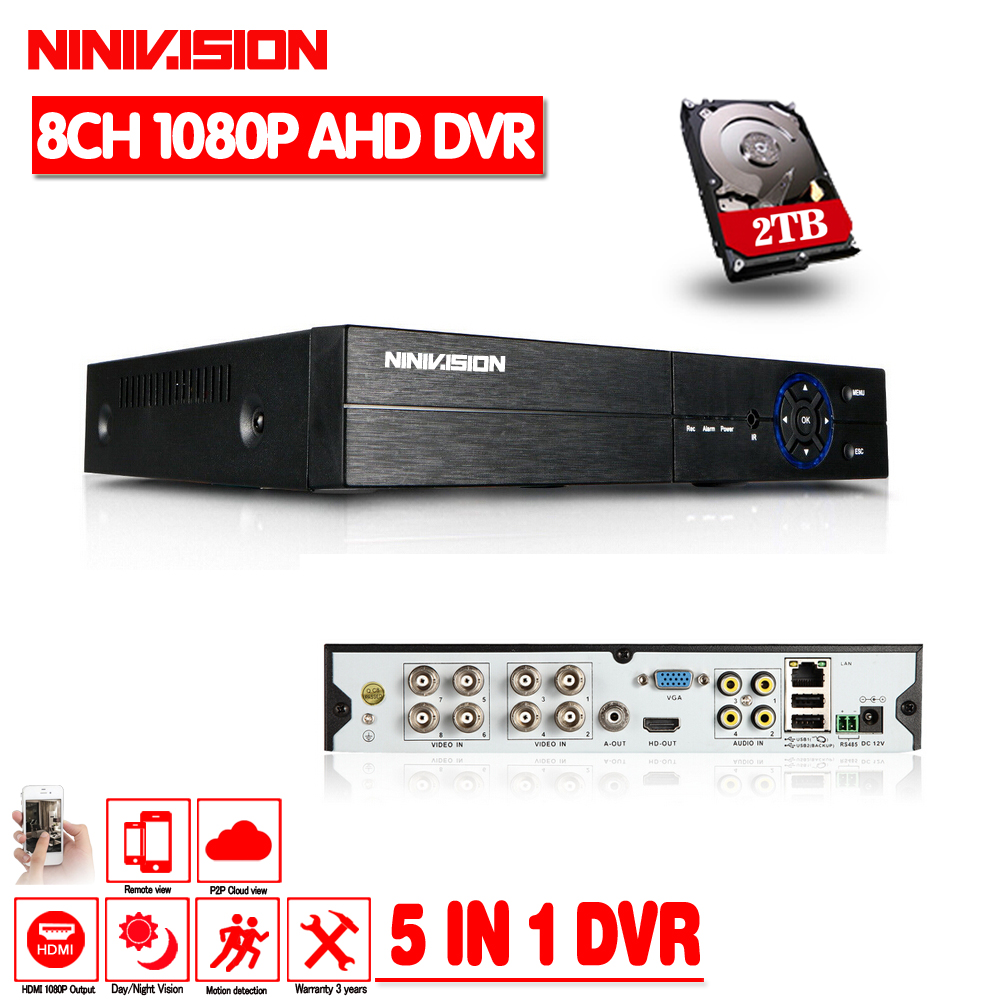 2016Hot Multifunctional 8CH AHD 960P DVR Hybrid DVR 1080P NVR Video Recorder AHD DVR For AHD
