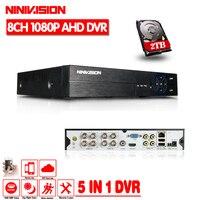 2016Hot Multifunctional 8CH AHD 960P DVR Hybrid DVR 1080P NVR Video Recorder AHD DVR For AHD