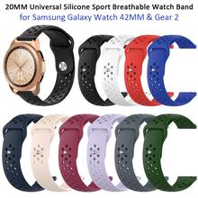 New 20MM Universal Silicone Sport Breathable Watch Band Wrist Strap For Samsung Galaxy Watch S4 SM-R810 42MM & Gear 2 20mm universal silicone sport watch band wrist strap for samsung galaxy watch sm r810 42mm