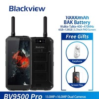 Blackview Bv9500 Pro Waterproof Walkie Talkie Smartphone 6gb Ram 128gb Rom Octa Core 5.7 Fhd 18:9 10000mah Battery Mobile Phone
