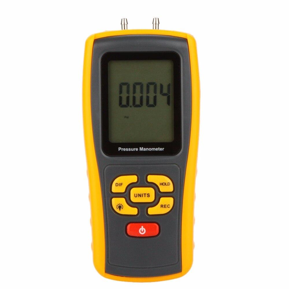 GM511 Digital Benetech 50KPa LCD display Pressure manometer yellow differential manometer pressure gauge 500 to 500pa micro differential pressure gauge high te2000