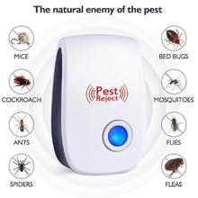 1pc Pest Reject Ultrasound Mouse Cockroach Repeller Device Insect Rats Spiders Mosquito Killer Pest Control Household Pest