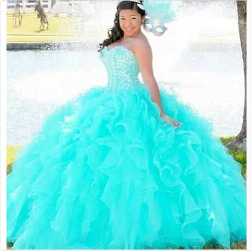 Elegant Ball Gown Quinceanera Dresses For Girls Red Sweetheart Beaded Prom Dress Gown Vestidos De 15 Anos
