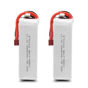Image 4 - Verbesserte Rc lipo Batterie FT012S 11,1 v 3400 mah 30C 3 s Ersatz Li po Batterie für Feilun FT012 RC Boot