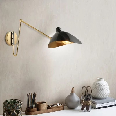 Modern Led Indoor Adjustable Wall Lamp Fixture Nordic Wrought Iron Golden Bedside Aisel Hotel Wall Sconce Lights Lustre Deco E14 Big Clearance Sale Led Lamps Led Indoor Wall Lamps