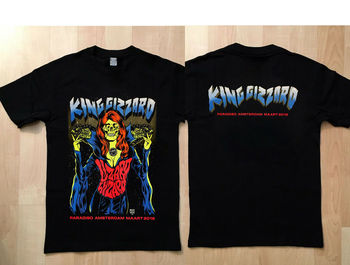 king gizard, lizard wizard paradiso amsterdam 2018 t shirt Men'S T-Shirts Short Sleeve O-Neck Cotton image