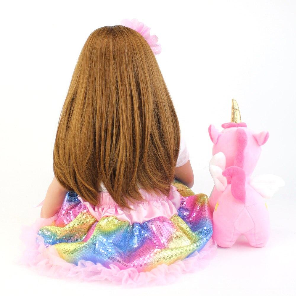 brinquedo lifelike princesa crianca bebes com unicornio 02