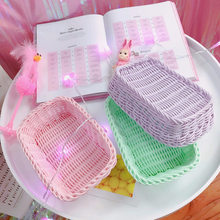 Green Compilation Storage Basket Desktop Debris Basket Girl Heart Pink Control Photo Props 3(China)