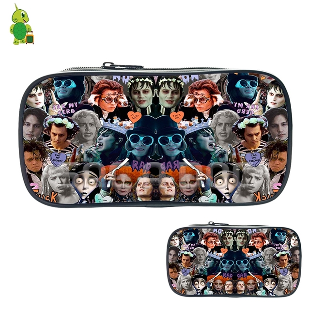 Famous Johnny Depp Tim Burton Characters Collage Cosmetic Bags Boys