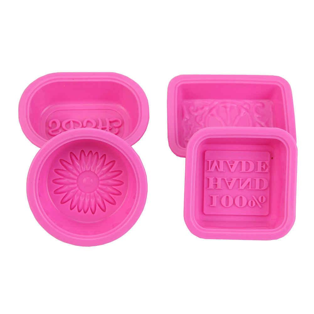 Hot Silicone Cubo de Gelo Doce Bolo De Chocolate Do Bolinho Moldes Do Queque Molde Sabão DIY 12 forma Retângulo Quadrado Rosa
