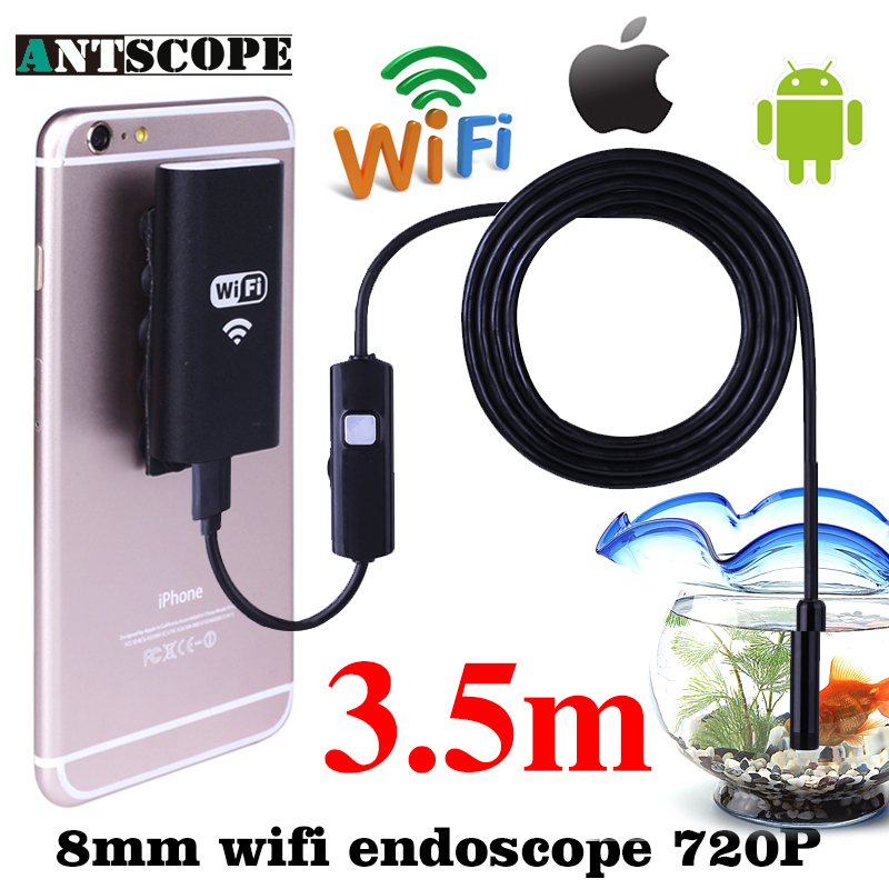 HD 8mm WiFi Endoscope 3.5M Borescope Waterproof Inspection Camera Snake IOS Iphone Endoskop Android Phones Mac Windows Computer детская игрушка new wifi ios