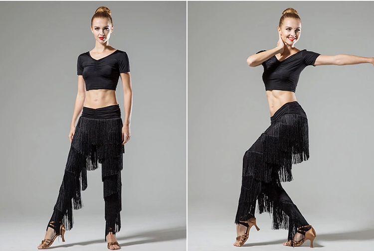 Ladies adult modern dance skirt pants fringed pants Latin dance new fringe pants do160-in Latin from Novelty & Special Use    1