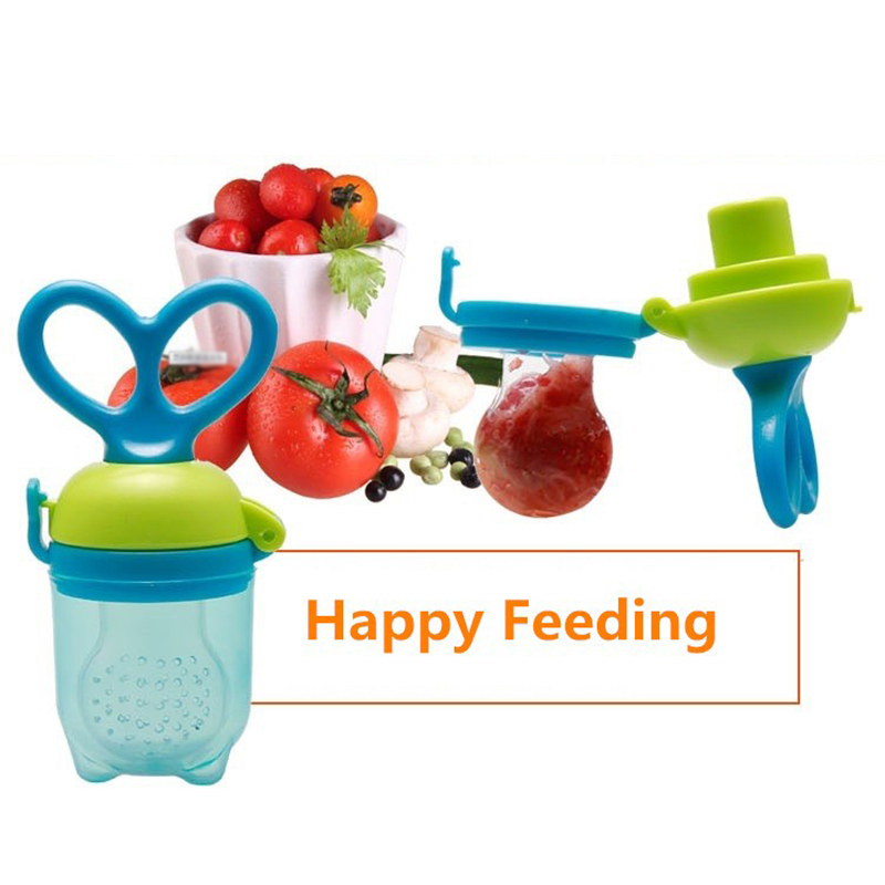 1PC Push Tpye Baby Teether Nipple Fruit Food Mordedor Bite Baby Pacifier Safety Feeder Bite Food Nipple Teether Oral Care