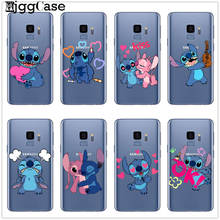Cute Disneys Stitch Phone Case For Coque Samsung Galaxy J3 J5 J7 2016 2017 J4 J6 Plus 2018 M10 M20 M30 Note 8 9 Soft TPU Cover(China)