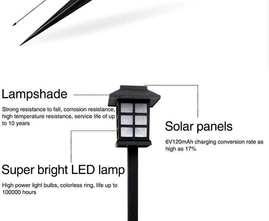 8 PCS RGB Led Solar Luz Caminho