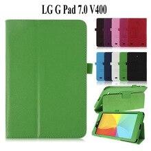 Чехол-подставка из искусственной кожи с зернистой фактурой для LG Gpad 7 V400, чехол для планшета 7,0 дюйма для LG V400, чехол для Lg V400, чехол 7,0 дюйма