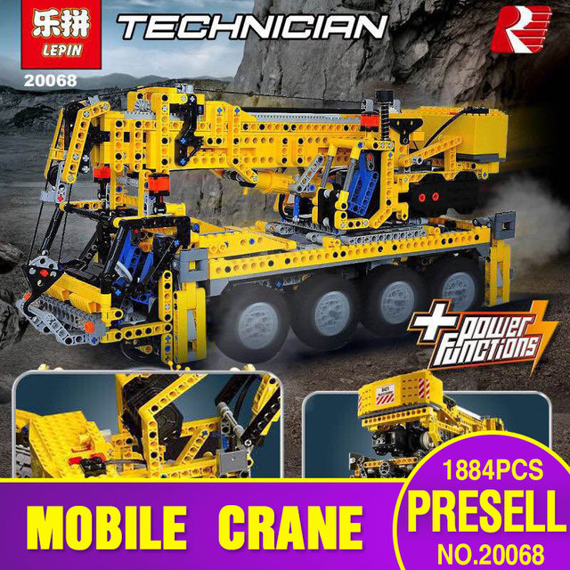 Lepin 20068 Technic Mechanical Series The Moving Crane Set 1884Pcs Children  Educational Building Blocks Bricks Toys