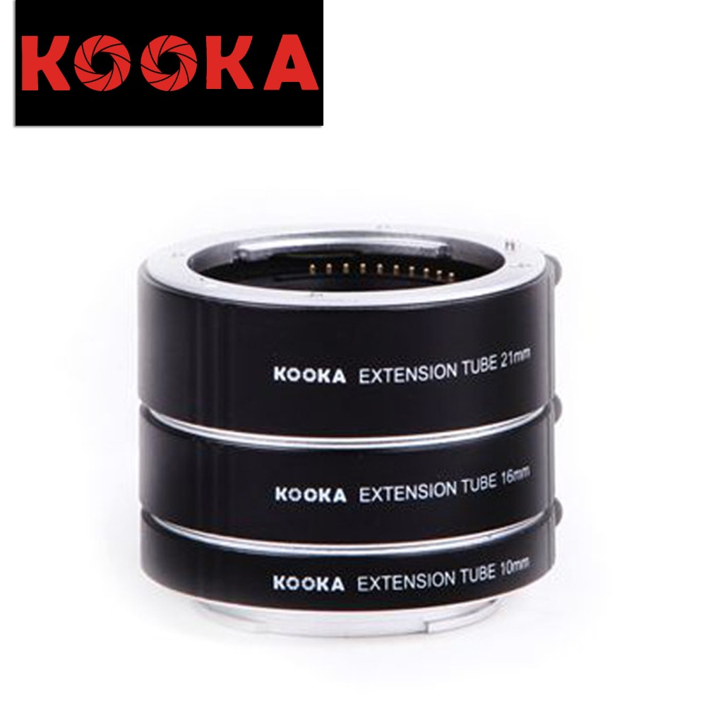 KOOKA KK-SE47A Aluminium Alloy Extension Tube TTL Exposure Close-up Image for Sony E-Mount Mirrorless Cameras (10mm 16mm 21mm) macro extension tube for sony e mount ac ms silver grey
