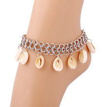1 Piece Women Lady Silvery Plated Bohemian Beach Shell Foot Tassel Chain Anklet Jewelry Accessory
