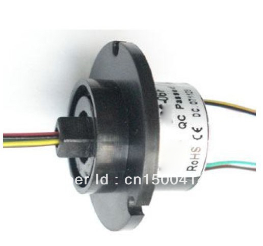 FREE Ship 22M 300RPM 6 Circuits 2A Capsule Slip Ring 6 Conductors rotary electrical collector ,electrical  rotary joint