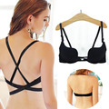 LowCut Halter push up bra Gather Sexy Bra for Top chest lovely bra Deep Plunge U girl brassiere Gather breast bra for breast