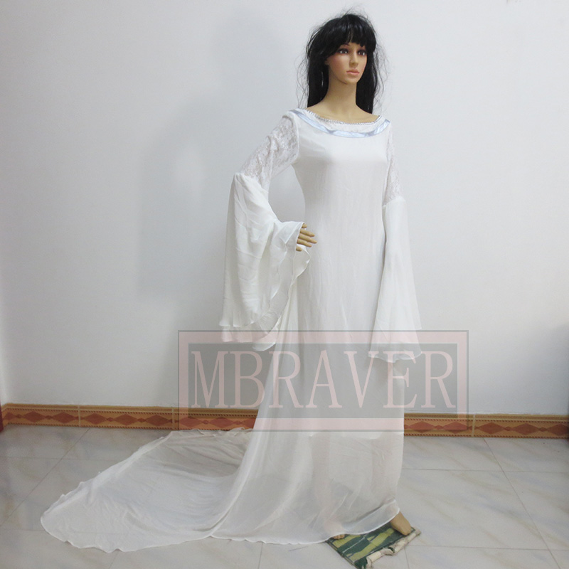 Halloween Lord of the Rings The Hobbit Lady Galadriel Cosplay ...