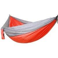 Oversize Dubbele Hangmat Volwassen Outdoor Backpacken Travel Survival Jacht Slapen Bed Draagbare. 260x140