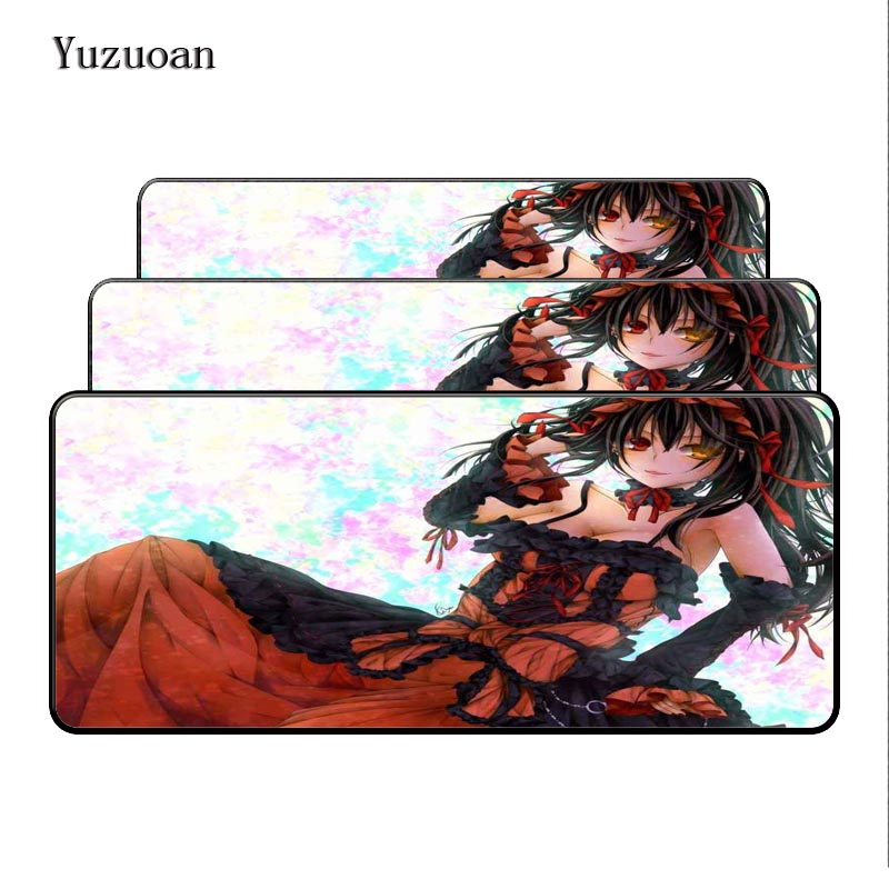 Yuzuoan Free Shipping 900x400x5mm XL Japan anime Large Overlock mousepad Rubber Mouse Desk Mat the best wife Sister Gift image