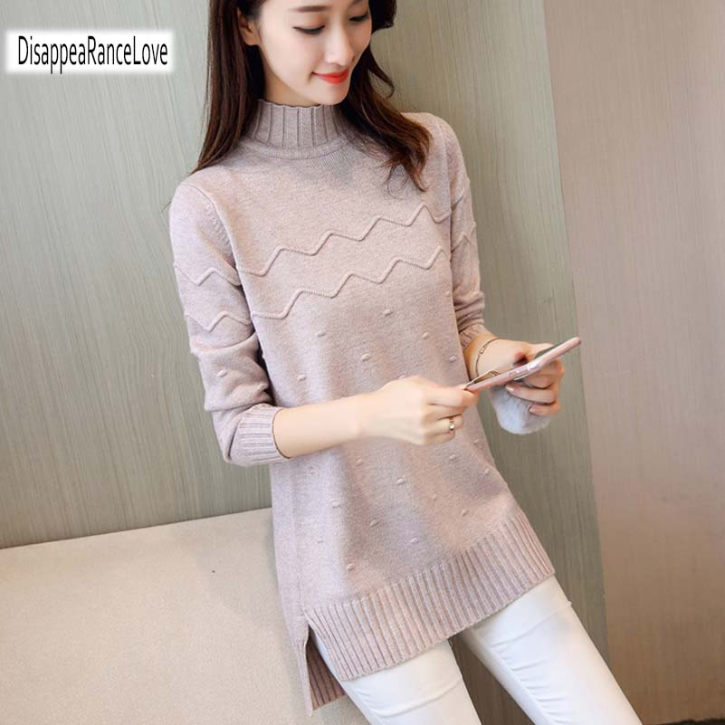 2019 Women Sweater Long Style Pullovers Hot Cashmere Sweater Women Winter Turtleneck Sweater Thickening Slim Pullover Sweater