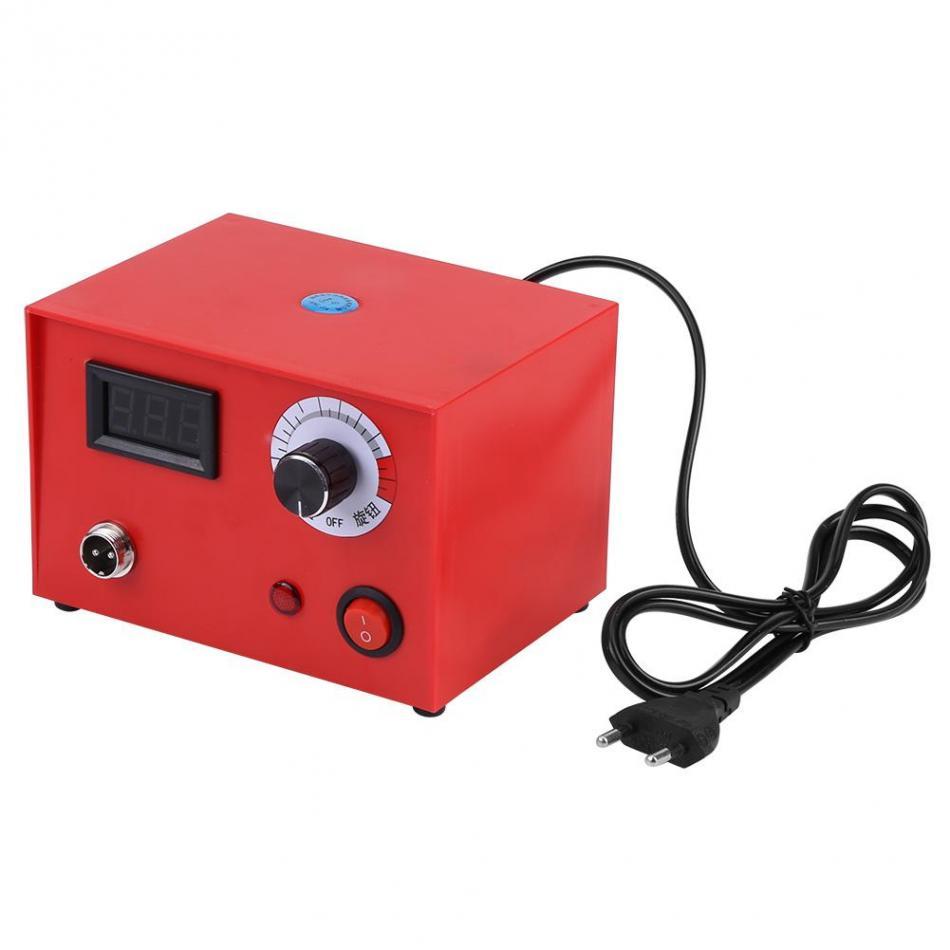 50W AC 220 Digital Display Pyrography Pen Machine Kit Set Wood Burning Soldering Irons Wood Holder
